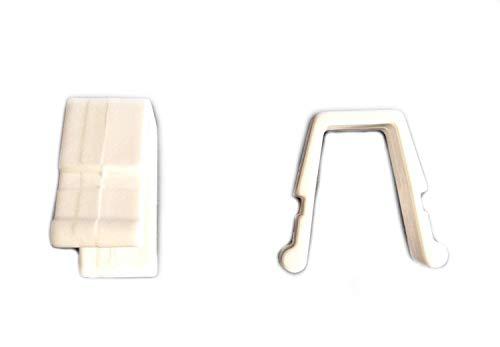Efitex® 10 Universalfeststeller, Gardinenfeststeller für Gardinen BZW. Gardinenschienen Vorhang Stopper