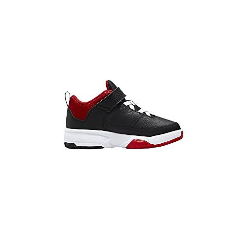 Nike Jordan Max Aura 3 (PS) Scarpe Bambino - Sintetica, nero rosso, 35 EU