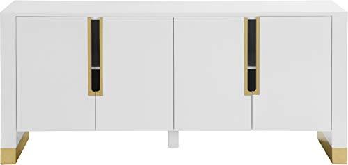 Meridian Furniture Modern   Aparador contemporáneo con Base Dorada