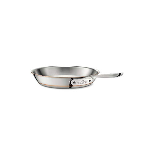 All-Clad 6108SS Copper Core 5-Ply Bonded Dishwasher Safe Fry Pan / Cookware, 8-Inch, Silver