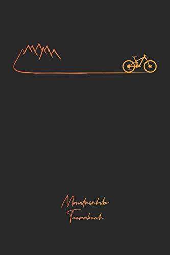 Mountainbike Tourenbuch: Mountainbike Tagebuch zum Ausfüllen Tourenbuch zum Eintragen als Geschenk für Mountainbiker Radfahrer, Fahrrad Fans und ... Väter zum Vatertag, Softcover mit 110 Seiten