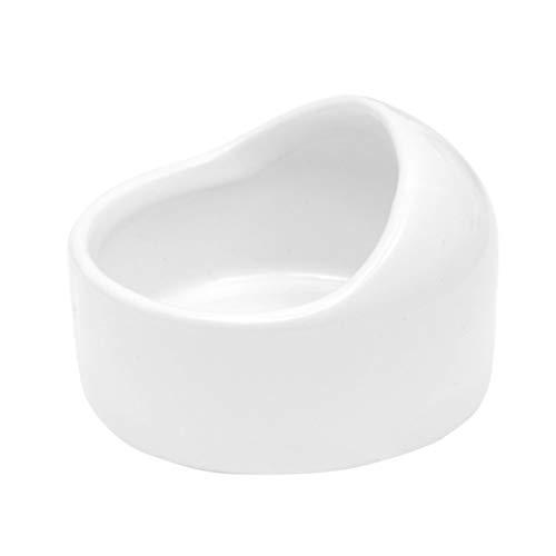 ledmomo ハムスター ボウル 餌入れ 食器 えさ皿 陶器 セラミック 小動物用ボウル モルモット モモンガ ペット食器 ホワイト