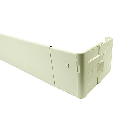 Graber 4 1/2-Inch Wide Pocket Dauphine Rod, 28 to 48-Inch Adjustable Width, White