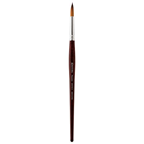 Speedball Art Products Escoda Prado Series Artist Watercolor & Acrylic Short Handle Round Paint Brush, Size 10, Synthetic Sable