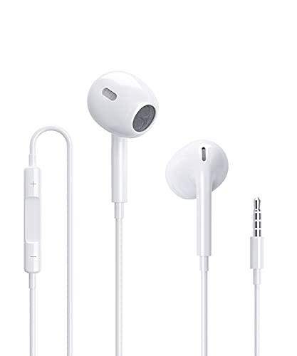 Auricolari, In-Ear Cuffie per iPhone 6, Cuffie con filo, 3.5mm Auricolari con microfono e controllo del volume, compatibili con iPhone 6/6S/6 Plus/5S/Se/MP3/4/PC/Pad/Android/Xiaomi/Sony/Huawei.