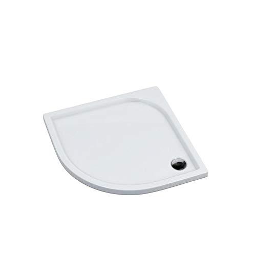 Duschtasse Duschwanne halbrund Acrylwanne Acrylschürze Stabilsound® inkl. Träger 90x90 x5cm R55
