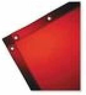 Wilson Industries See-Thru Welding Curtains, 5 Ft X 4 Ft, Vinyl, Orange - 1 Piece