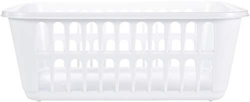 STERILITE Medium Plastic Basket, White, 1-Pack