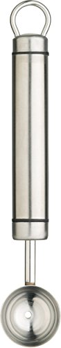 Kitchen Craft Pro-Tools & Soft Grip Tools Boule à Melon, Acier Inoxydable, Argent, 32 x 32 x 22 cm