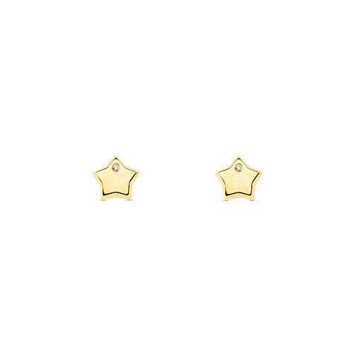 Orecchini per Bambini stella - oro giallo 9k (375)