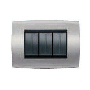 ABB ELOS PLACCA SOFT METAL. 4M GRIGIO ARGENTO 2CSE0402SFZ