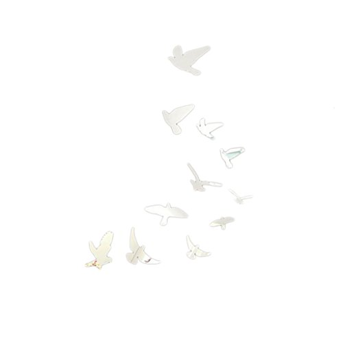 Generic 11pcs Vögel Acryl 3D Spiegeleffekt Wandaufkleber Dekor Vinyl-Aufkleber