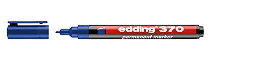 Edding 370 - Rotulador permanente de 1 mm, punta redonda extrafina, color...