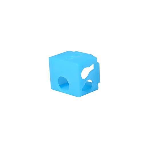 Dependiente Bloque de calefacción calificado Aluminio para V5 Hotend Silicone Cubierta de calcetín de silicona Extrusora Impresora 3D Piezas de calor Bloque de calor V6 J-Head disipador de calor Uso e