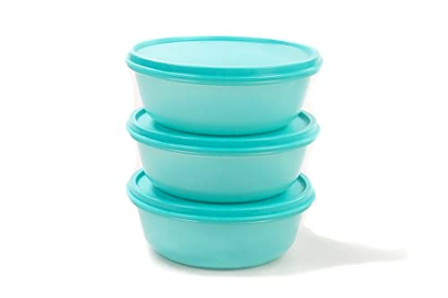 Tupperware - Set di contenitori per frigo Hit-Parade Panorama 600 ml turchese (3) 30421
