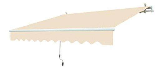 GARDEN FRIEND T1372011/F Tenda Barra Quadra profondità 200 cm, Lunghezza 250 cm, Beige, 250x15x18 cm