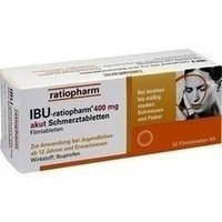 IBU-ratiopharm® 400 mg akut Schmerztabletten 50 Stück