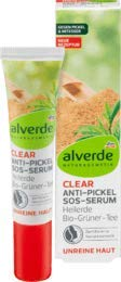 alverde NATURKOSMETIK Serum Clear Anti-Pickel SOS Heilerde, 1 x 15 ml