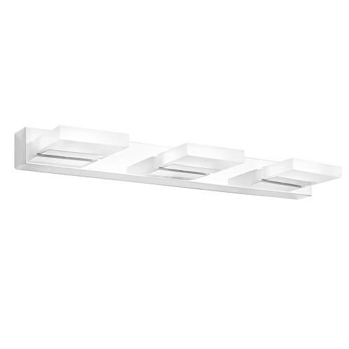 Klighten LED Spiegelleuchte 55CM 12W Spiegelschrank Spiegellampe 360° Einstellbar Badlampe für Badzimmer und Spiegelschrank Kaltweiß 6000K