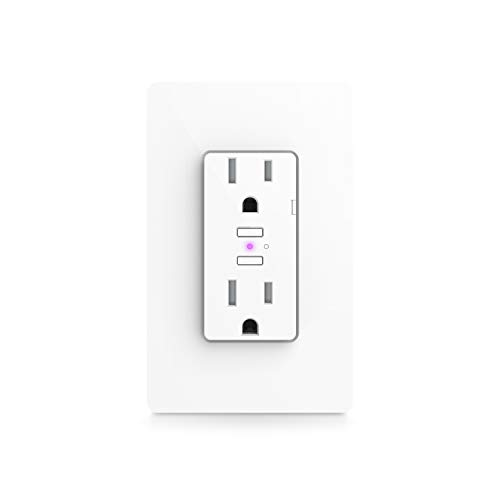 iDevices Wall Outlet - Wi-Fi enabled smart outlet; Works with Alexa, Siri, the Google Assistant
