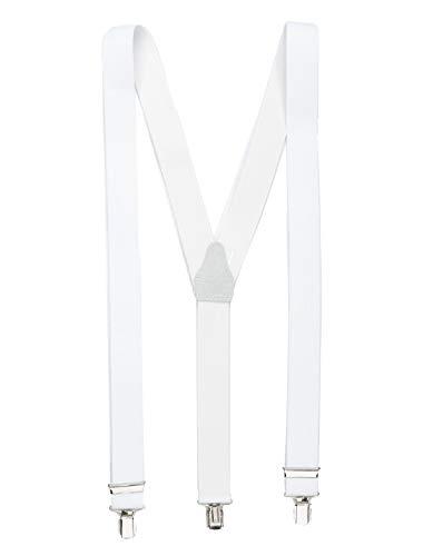 shenky - Tirantes con forma de Y con 3 clips - Blanco
