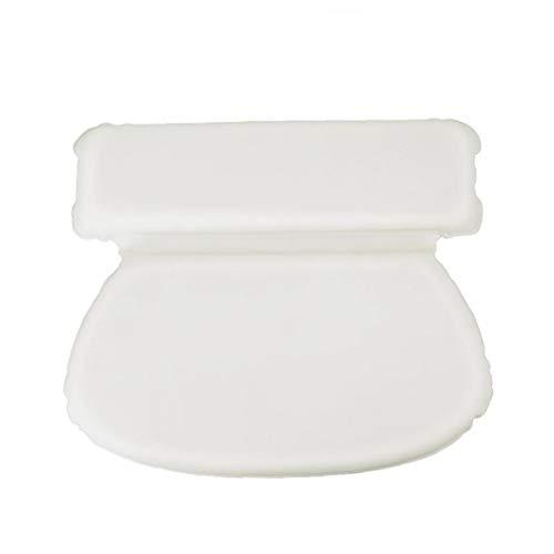 Yililay Esponja del baño de PVC Almohada Blanda Antideslizante de Espuma Tipo Almohada de baño con ventosas para el Baño Casa