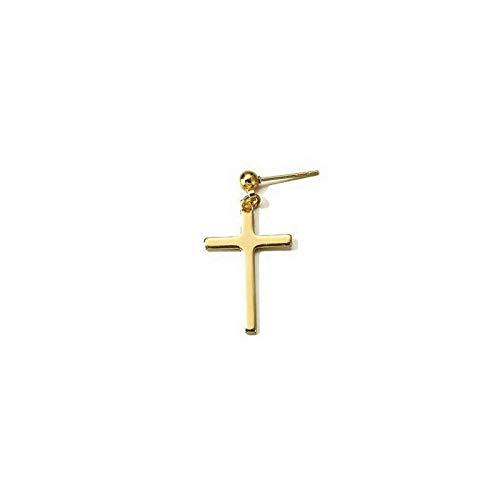 1 pieza simple de acero inoxidable con colgante de cruz para hombres y mujeres góticas de la calle Hip Hop pendientes de borla de joyería de moda regalos