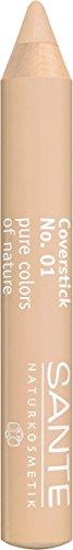 Sante Natuurlijke cosmetica Coverstick, voor het afdekken van kringen rond de ogen, kleine adertjes en pigmentvlekken, biologische extracten, 2 g