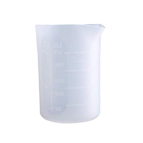 250 ml de copa de medición de silicona resina de silicona jarras de medición de la cocina transparente Hecho a mano DIY Cake Baking Kit Herramienta práctica (Capacity : 250ml)