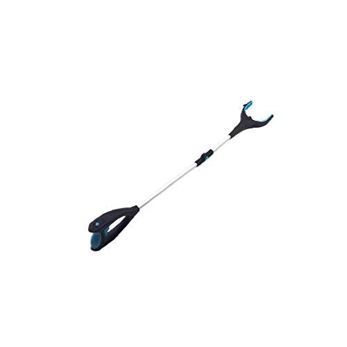 Professionelle Ratschen Erreichen Hilfe Pick Up Glasklemm Kanalisation Müll Tongs mit Led Magneten Schmuck Haken drehbaren Griff für Heim Housekeeping Waren Black and Blue