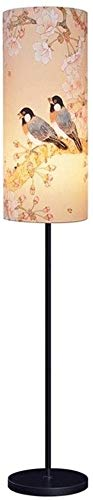 BESTPRVA Lámpara de pie de estilo chino con pantalla de la tela simple Inicio Habitación Sala Estudio creativo decoración LED de noche vertical lámpara de mesa