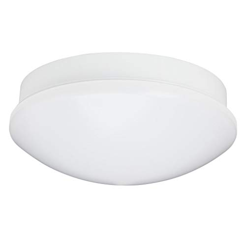 Brilliant Fakir LED Deckenleuchte Wandleuchte 32cm rund mit Bewegungsmelder spritzwassergeschützt weiß 900 Lumen, LED integriert