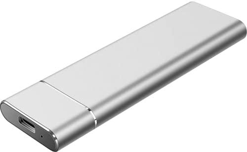Disco duro externo portátil, ultradelgado, 1 TB, 2 TB, disco duro portátil tipo C, para Mac, PC (2 TB, plateado)