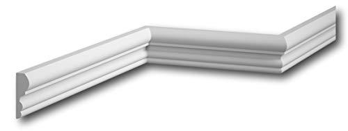 ***BESTSELLER*** MARDOM DECOR Wandleiste I MDD314 I Friesleiste Stuckleiste Profilleiste zur universellen Gestaltung von Wänden Täfelung und Rahmen I 240 cm x 5,2 cm x 1,7 cm