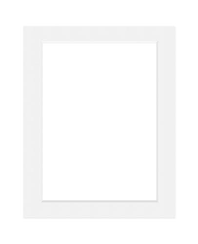 Deha Passepartout Karton 40x50 cm für Bilder im Format 30x40 cm, Hellweiß