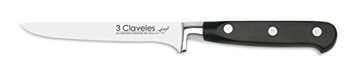 3 CLAVELES Cuchillo para Deshuesar Forgé de Acero Inoxidable, 13 cm