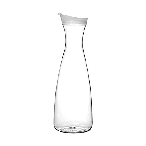 Jarra de plástico transparente con tapa, ideal para comidas al aire libre, picnics y barbacoas de verano para fiestas de verano, jarra de bebidas (tamaño: 1600 ml)