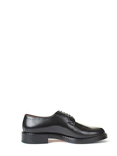 Santoni Luxury Fashion Homme MCWA13527JH2I0NSN01 Noir Cuir Chaussures À Lacets | Saison Outlet