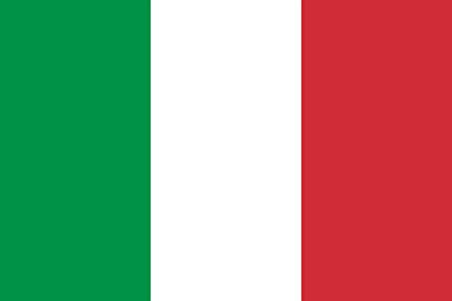 KiipFlag Italië Italiaanse vlaggen 5ftX3ft Bandiera Italiana Bandiera dell'Italia - Levendige kleur en UV Fade Resistant - Canvas Header en Dubbel gestikt - Italië Nationale vlaggen Polyester met Messing Grommets