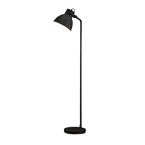 LY88 Light Vloerlamp voor Woonkamer Industrieel Groen Wit Metaal Leeslamp Moderne Slaapkamer Décor 0612P Kleur: Zwart