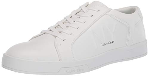 Calvin Klein Men's lace up Sneaker, White