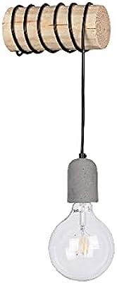 Homemania HOMBR_0295 Lampe Murale Foster-Applique, Noir, Bois, Ciment 20 X 8-12 X 8-12