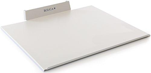 BeSuCa Einfach aufgeräumt EA1.0 Festplattenhalterung, Fix, Ablage aus Stahl für 24 und 27 Zoll iMAC mit CD/DVD-Laufwerk, Weißaluminium
