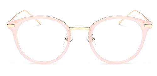 MIGOO Brille Ohne Stärke Rund Rahmen Retro Brillenfassungen mit Nasenpad Nerdbrille Vintage Look Clear Lens Eyewear Unisex (Herren/Damen)