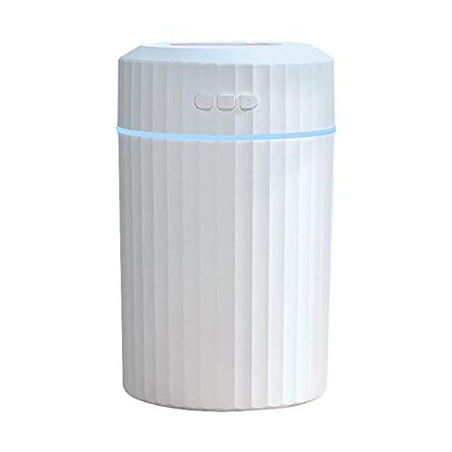 YYQQ Humidificadores 2L para El Hogar, Humidificador Portátil, Humidificador De Aire Silencioso De Apagado Automático Sin Agua De Escritorio USB para Oficina En...