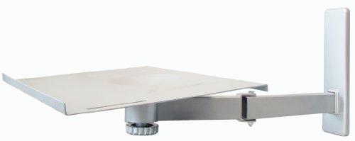My Wall H20L - Supporto da parete per televisori fino a 53 cm (21'), portata 35 kg, regolabile, orientabile, colore: Argento
