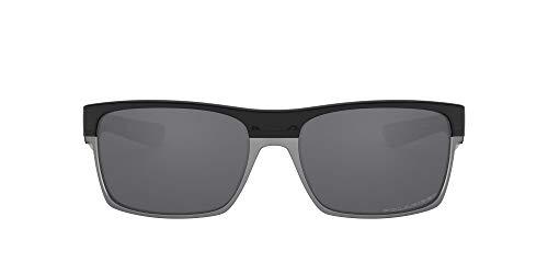 Oakley Men's Twoface (a) 0OO9256 Polarized Iridium Rectangular Sunglasses, POLISHED BLACK, 60.01 mm