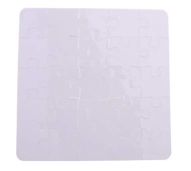 Polymer DYE Sublimation Jigsaw White Square Blank Puzzle 10 Units. Heat Transfer 16x16cm 25pcs
