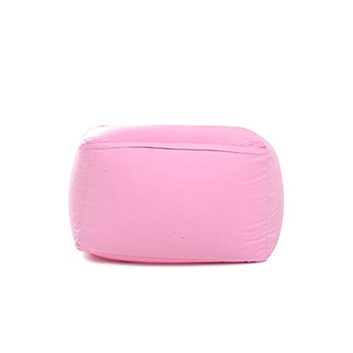 Bolsa de Frijol de Soja para Adultos Funda De Bolsa De Frijoles/Puff Funda De Bean Bag/For Exteriores E Interiores For Videojuegos For - Asiento De Silla Puf (Color : Pink, Size : 43x65x65cm)