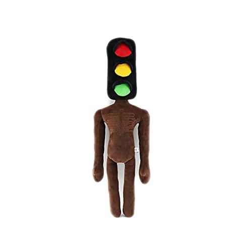 15.7 inch Siren Head Traffic Light Plush Toy,SCP 096 Plush Toy Horror Plush for Fans Gift (Brown Traffic Light Head Plush)